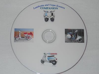 SCOOTERS VESPA  LAMBRETTA COMPANION BOOKS MANUAL INFORMATION DATA. DVD.