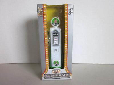 Road Signature Vintage INDIAN GASOLINE Green Gas Pump Replica Diecast 1:18 NIP