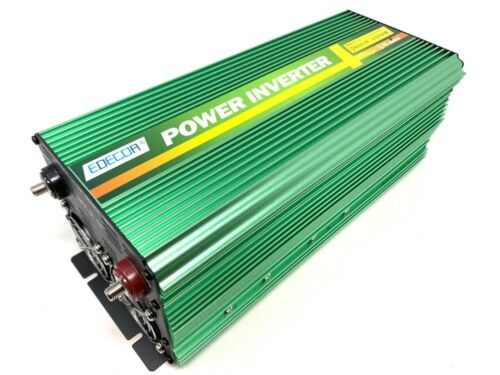 Edecoa Power Inverter 2000W 4000 Watt 12V DC to 110V 120V AC LCD Cables Remote