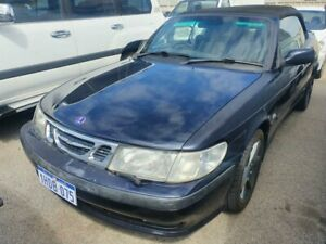 2001 Saab 9-3 MY01 S Black 4 Speed Automatic Convertible Wangara Wanneroo Area Preview