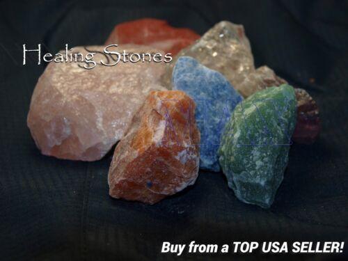 7 Chakra Reiki ROUGH CUT CRYSTAL HEALING STONE 4 Quartz +Jasper Amethyst Calcite