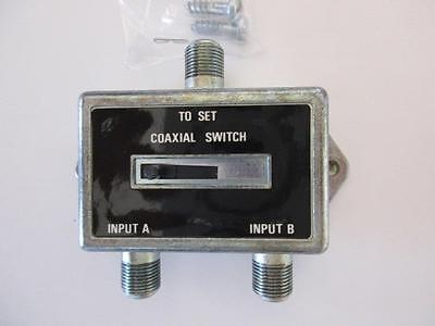 A/B COAX Coaxial Slide Switch for TV Antenna Cable Satellite