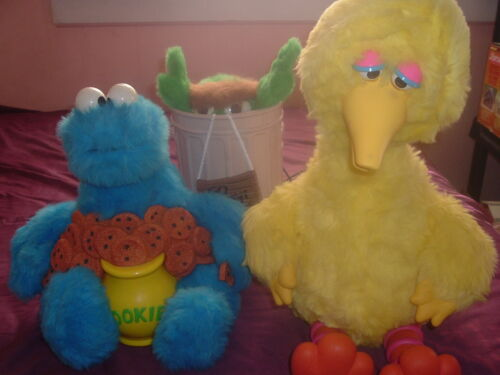 Ideal Sesame Street Story Magic Interactive Big Bird,Cookie Monster,Oscar Grouch