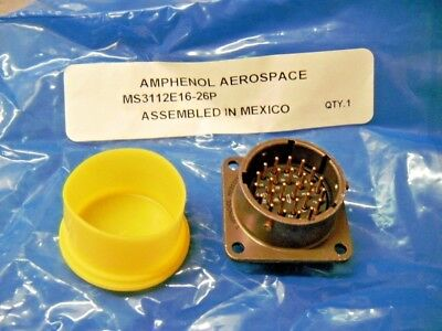 Amphenol Aerospace Ms3112e16-26p Circular 26 Position Connector Gold Male Pins