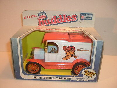 1980S Cincinnati Bengals Huddles Ertl Die Cast Truck Bank In Box