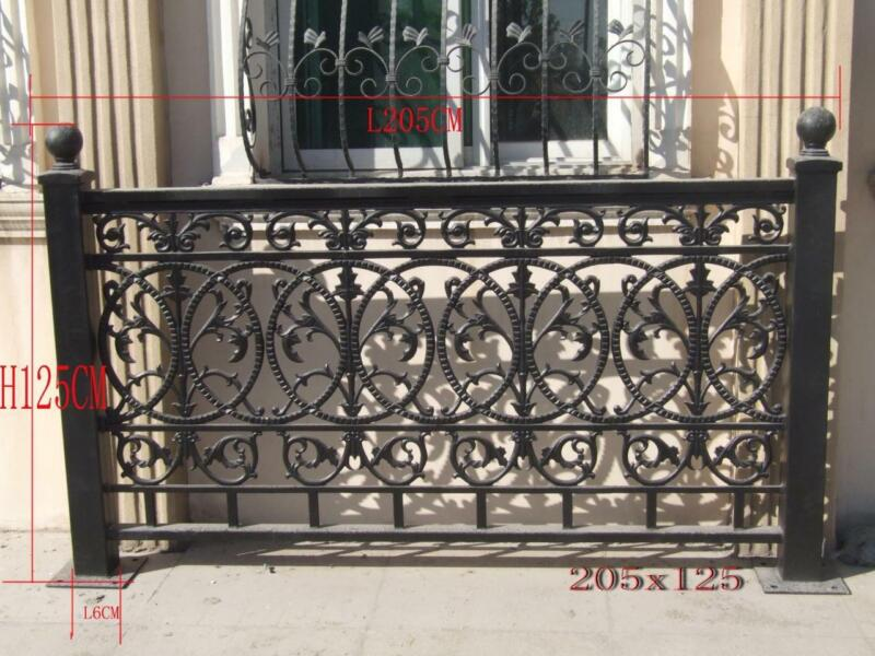 NICE SOLID CAST IRON VICTORIAN STYLE FENCE PANEL SYSTEM -#FENCE45