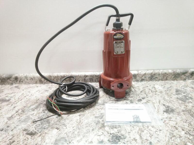 Liberty Pumps LSGX204M 2 HP 3450 RPM 440 to 480VAC 185 Ft Max Head Grinder Pump