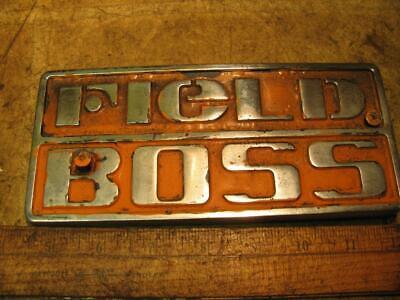 White Field Boss Tractor Emblem 30-3128334 2-135 2-150 4-180