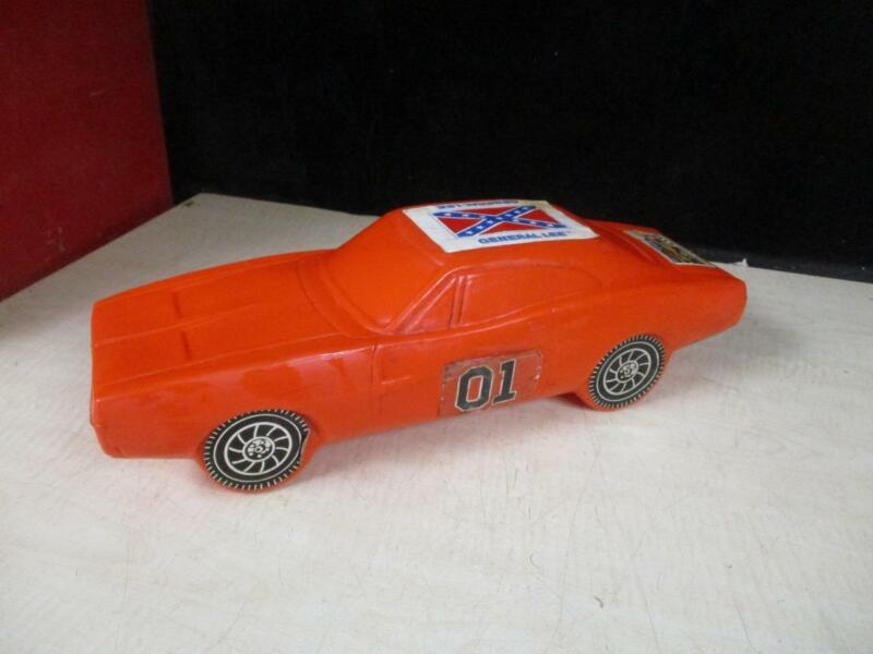 VINTAGE DUKES OF HAZARD GENERAL LEE CAR BANK 1969 DODGE CHARGER WARNER BROS