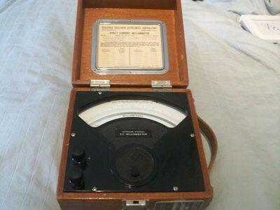 Vintage Sensitive Research Instrument Corp Direct Current Milliammeter Model C
