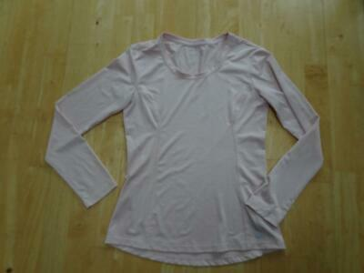 M&S ACTIVE ladies pink long sleeve sports gym workout top UK 8 EXCELLENT for sale  Shipping to Nigeria
