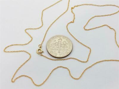14K Solid Yellow Gold Ladies Very Dainty Thin ROPE Chain Nec