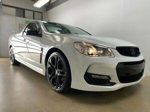 2016 Holden Ute Vfii MY16 SS Black Edition White 6 Speed Manual Utility