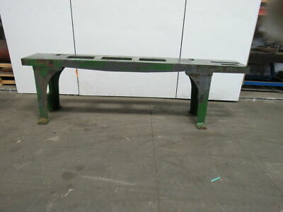 Webbed Cast Iron Machine Base Welding Work Table Bench 117-12x18-14x35-12h