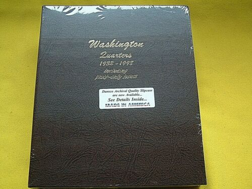 DANSCO ALBUM 8140 WASHINGTON QUARTERS 1932-1998 INCL PROOF-ONLY ISSUES *NEW*
