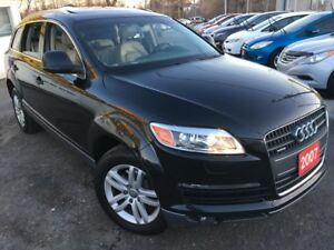 2007 Audi Q7 Auto / AWD / 7-Pass / Backup Camera / Pano Sunroof