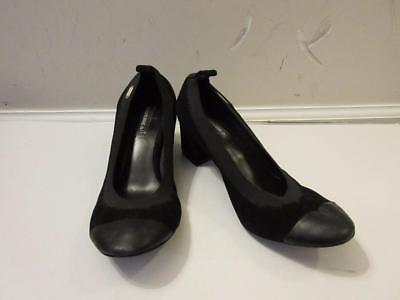 Womens Black Suede Pumps - WOMENS COURAGE B BLACK SUEDE/LEATHER PUMPS SIZE 37