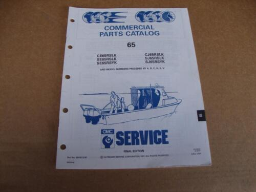 1991 OMC Commercial 65 HP outboard parts catalog Johnson Evinrude 434263