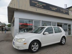 2008 Volkswagen Golf Low km,5 speed,heated seats,a/c,alloys,all