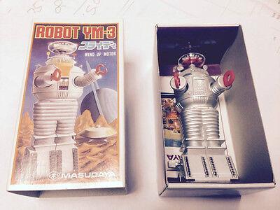 """1985 MASUDAYA JAPAN 4.5"""" LOST IN SPACE ROBOT YM-3 WIND UP"""
