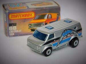 MATCHBOX SUPERFAST VINTAGE 1982 CHEVROLET VANPIRE VAN #68 VNM IN ORIGINAL K BOX