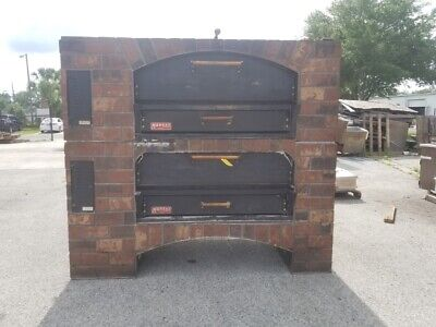 Marsal Mb-60 Stacked Gas Pizza Ovens-brick Lined