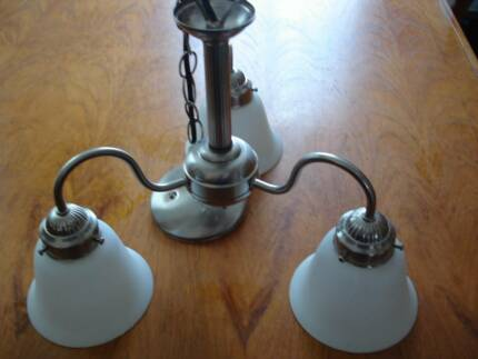 Vintage Pendant Light Fitting with 3 white shades Uralla Uralla Area Preview