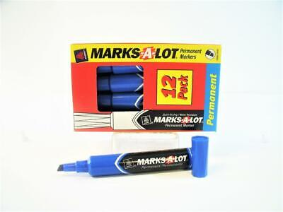 Avery Marks-a-lot Large Desk-style Permanent Marker Chisel Tip Blue 12-pack New
