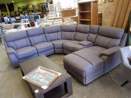 CLEARANCE!! NEW Electric corner chaise lounge 2 COLOURS!!