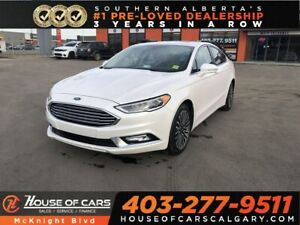 2017 Ford Fusion SE / Leather/ Back Up Cam Sunroof / Navi