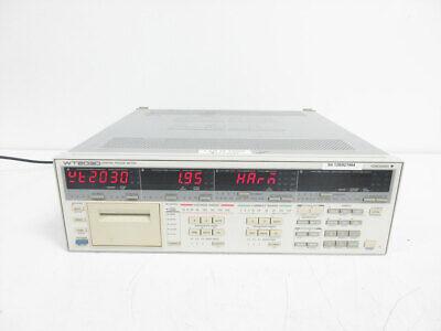 Yokogawa 253103 Wt2030 3-element Digital Power Analyzer 253103-c1-3-db5hrm