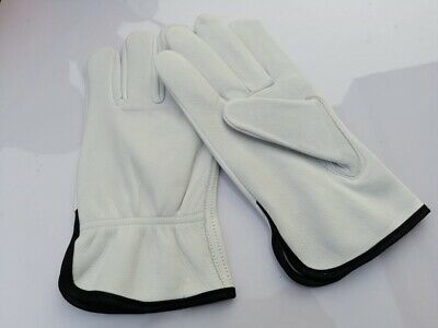 12 PAIRS TOP GRAIN LEATHER DRIVER WORK GLOVES Size S, L, XL Leather Driver Work Gloves