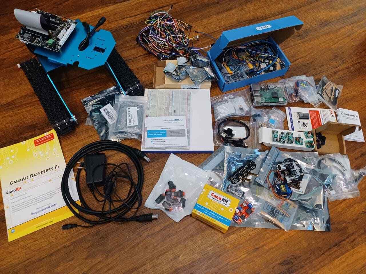 Massive Raspberry Pi 3B+ Robot DIY Kit Camera Sensors GPS Co