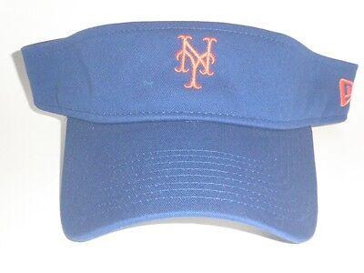 New Era New York Mets Visor DUGOUT Blue Adjustable OSFA Golf Baseball Hat NEW NY