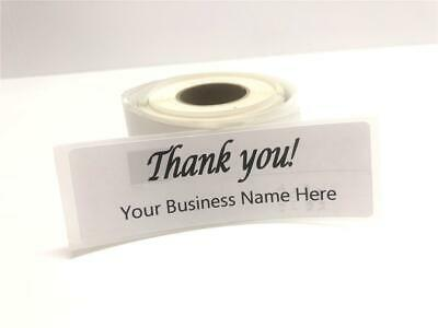 Custom Thank You Labels 1 X 3 Personalized Custom Business Logo Stickers-label