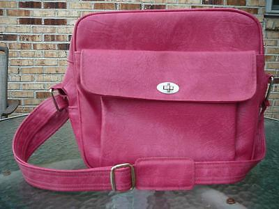 Retro Mid Century SAMSONITE Hot Pink Carry On Luggage Shoulder Bag ...