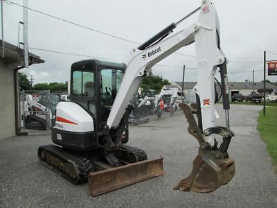2014 Bobcat E35 Mini Excavator 728 Hrs Cab Acheat 2 Speed X-change Coupler