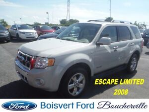 2008 Ford Escape Limited AWD CUIR-TOIT