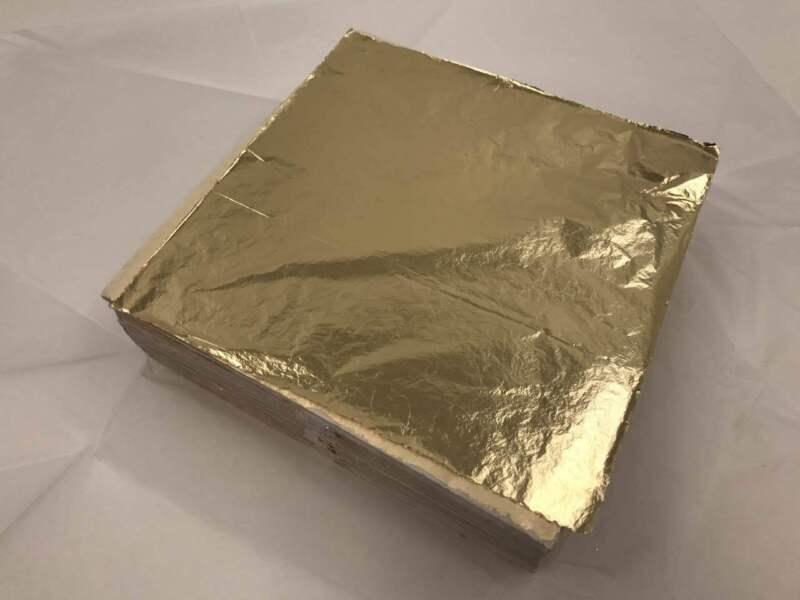 Imitation Gold Leaf (Gold#2.0) 140mm X 140mm - 25 Sheet Book