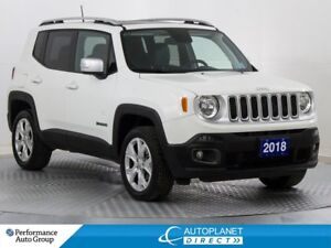 2018 Jeep Renegade Limited 4x4,Tow Pkg, Navi, MySky Roof!