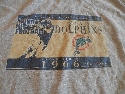 Miami Dolphins Monday Night Football Nfl Team Apparel T Shirt Size Medium