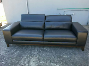 Dj 100% leather 3 seater with adjustable headrest Mentone Kingston Area Preview