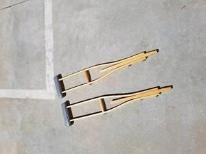 old style timber underarm crutches Bendigo Bendigo City Preview
