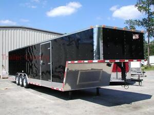 NEW 85 X 38 85x38 Enclosed Gooseneck Cargo Carhauler Trailer