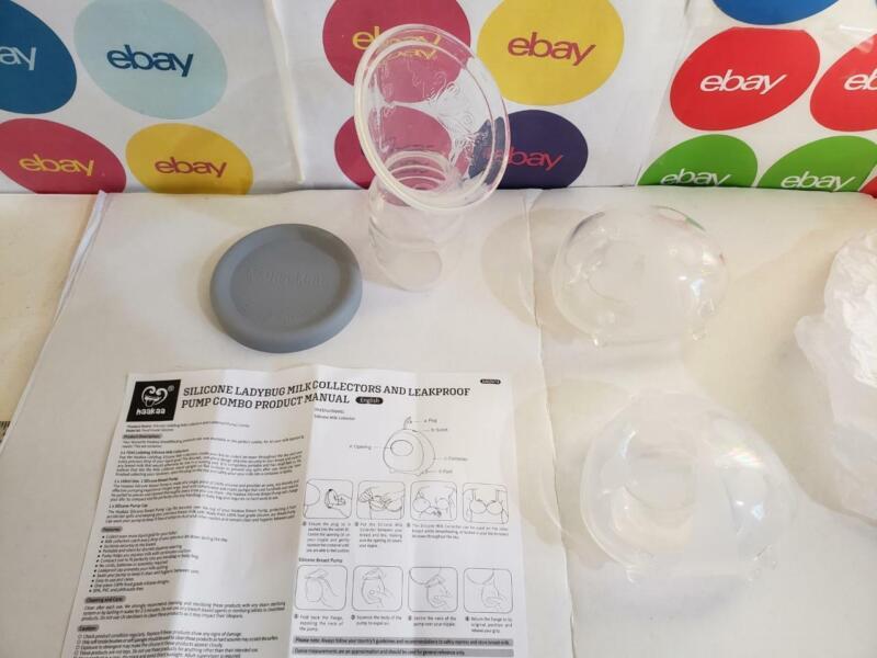 Breastfeeding Manual Breast Pump and 2 Milk Collectors,Silicone