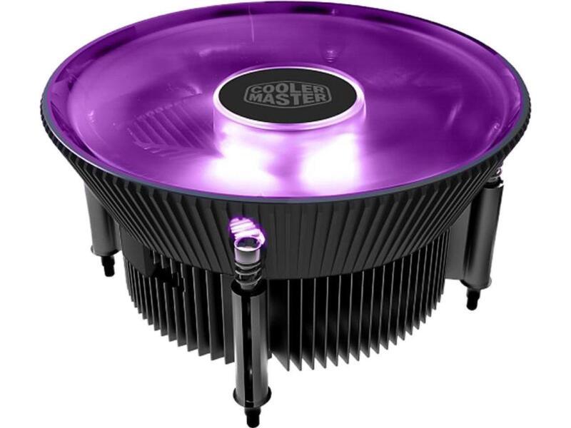 Cooler Master i71C RGB for Intel CPU Air Cooler, Anodized Black Aluminum Fins, C