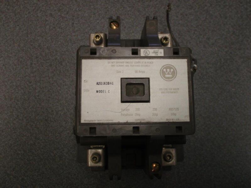 Westinghouse Contactor A201K3BAG Size 3 Model C
