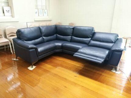 5 seater leather modular sofa lounge