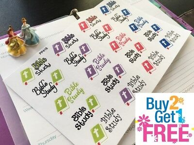 PP416 -- Cute Bible Study Icons Life Planner Stickers for Erin Condren (20pcs) - Bible Craft
