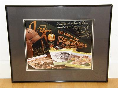 Green Bay Packers Autographed Print Bart Starr Ray Nitschke Hornung Jim Taylor
